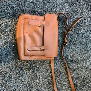 Tan Leather Abercrombie & Fitch Crossbodybag